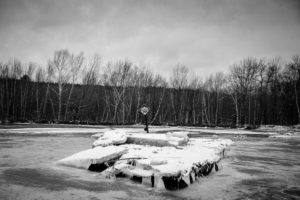 Stonetree Creative - flooded river and icebergs in Maine