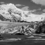 Stonetree Creative - Black and white image of glacier in Iceland