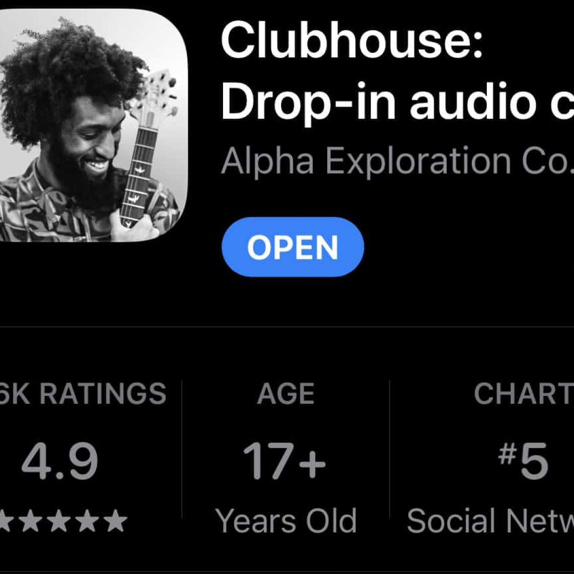 Clubhouse App listing on Apple Store