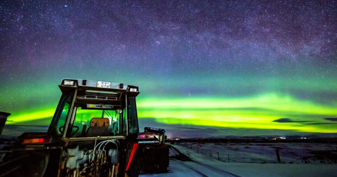 Stonetree Creative - Northern lights on a farm in Iceland